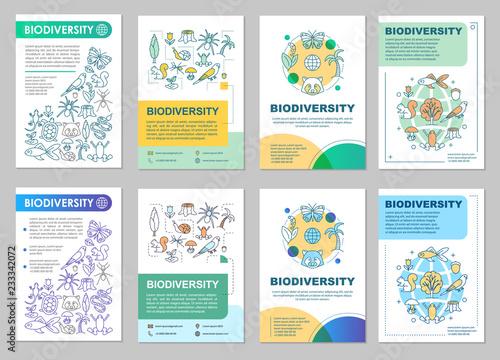 Fotografía  Biodiversity brochure template layout