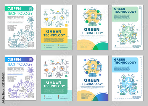 Green technology brochure layout