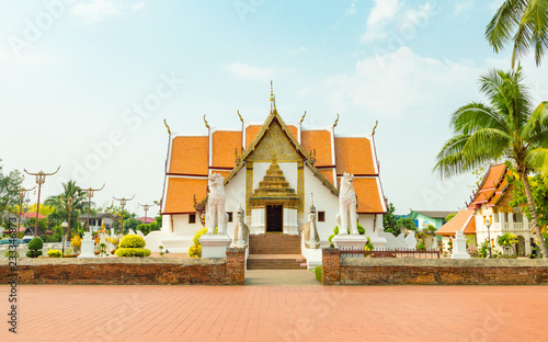Spoed Foto op Canvas Bedehuis Phumin temple, Nan Province, Thailand. Temple is a public place.Created over 100 years old.