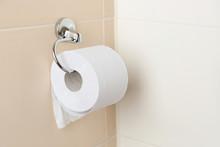 Roll Of Toilet Paper In Restroom