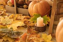 Beautiful Autumn Decorations In Room