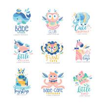 Kids Club And Toyshop Logo Des...