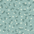 Seamless abstract mistletoe with white berries pattern on a green background