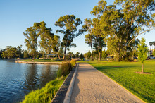 Victoria Park Lake In Sheppart...