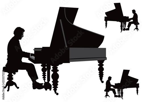 Obraz na płótnie Pianist