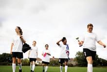 Junior Female Football Players...
