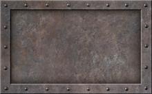 Old Metal Steam Punk Frame 3d Illustration