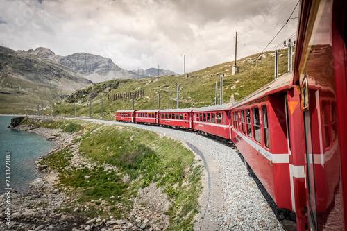 Poster Voies ferrées Bernina Express