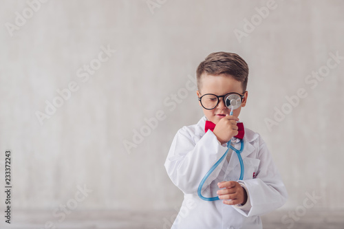Little doctor with a stethoscope