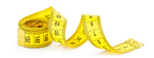 Yellow Measuring Tape Isolated...