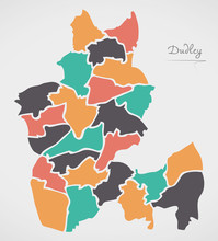 Dudley Map With Wards And Mode...
