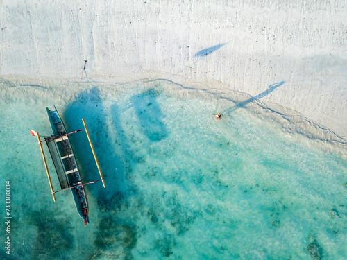 Indonesia, Lombok, Young woman at Tanjung Aan beach
