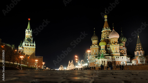 At Basil's Slope at Night - Moscow by Night Tour