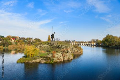 Fotobehang Historisch mon. Monument Rosich in Korsun-Shevchenkivsky town, Ukraine