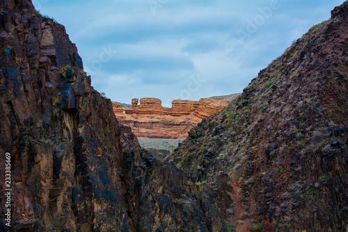 Deurstickers Grijze traf. Charyn Canyon, Kazakhstan