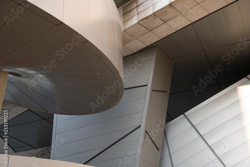 In de dag Theater abstract urban structure facade