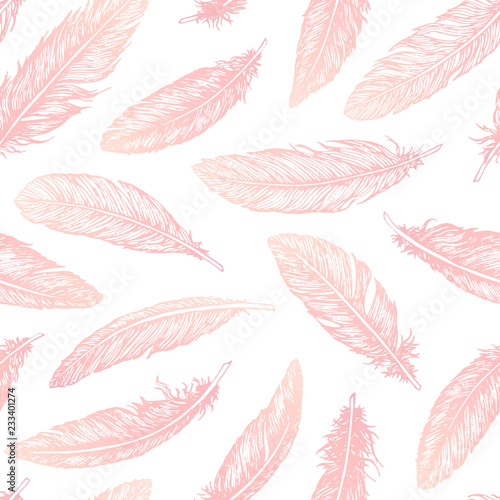 hand-drawn-vector-feathers-line-art-seamless-pattern-on-white-background-detailed-pink-boho