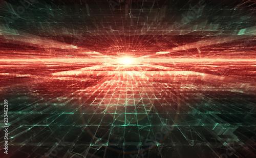 Foto  dawn in cyberspace