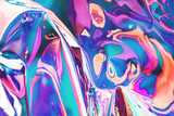 Bright holographic foil background. Multicolored and pastel trendy backdrop.