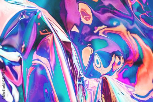 Stampa su Tela  Bright holographic foil background