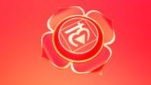Red Root Chakra Muladhara Symbol Concept Of Hinduism, Buddhism, Ayurveda. Basic Trust. 3d Rendering