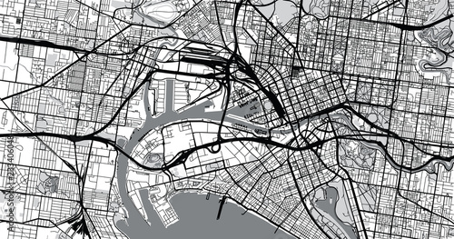 Fotografía Urban vector city map of Melbourne, Australia