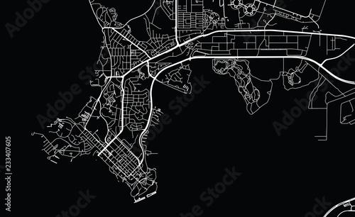 Fotomural Urban vector city map of Darwin, Australia