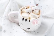 Mug With Hot Chocolate And Mel...