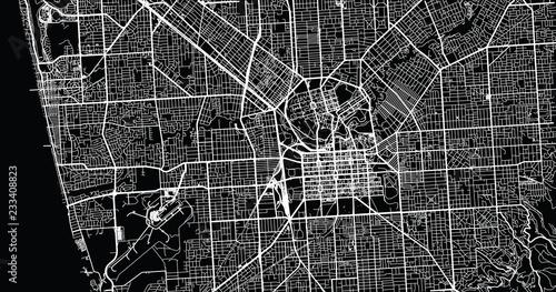 Urban vector city map of Adelaide, Australia Canvas Print