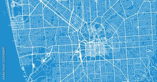 Fototapeta Urban vector city map of Adelaide, Australia