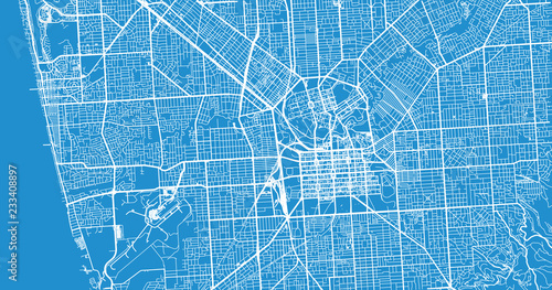 Photo Urban vector city map of Adelaide, Australia