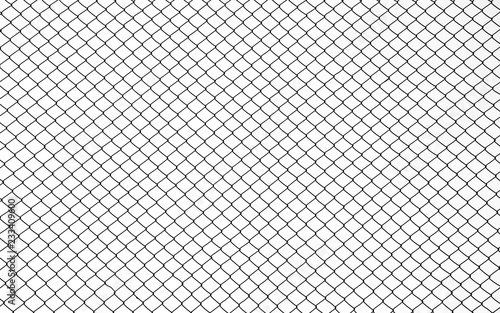 Fényképezés  Wire mesh steel on white background - silhouette