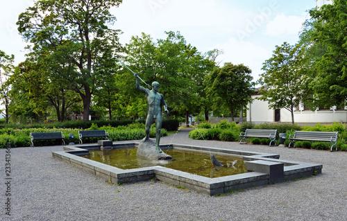 Foto op Plexiglas Kiev Neptunbrunnen in Härnösand Schweden