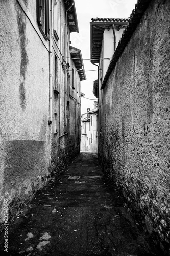 Canvas Prints Narrow alley narrow street in old town