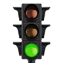 Traffic Light With Green Color...