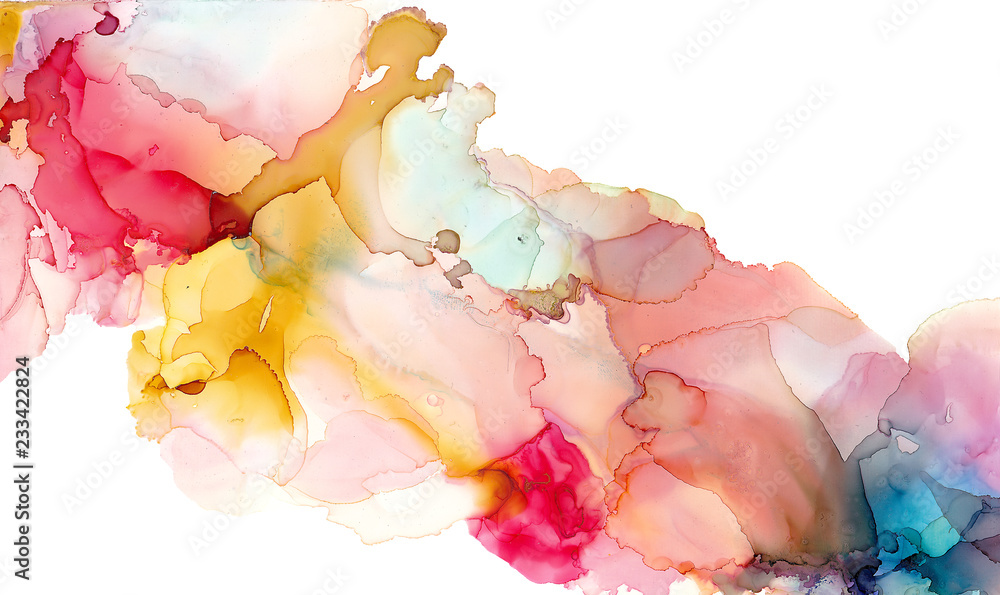 Fototapety, obrazy: Alcohol ink texture. Fluid ink abstract background. art for design