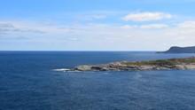 Killick Coast Seascape, The Tip Of The Beamer Rock Near Flatrock, Avalon Peninsula Newfoundland Canada