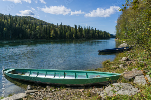Long wooden boats