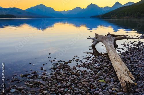 Fotografia, Obraz  Glacier National Park Lake Sunrise