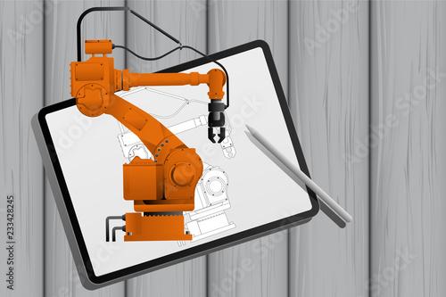 Augmented reality in engineering Fototapeta