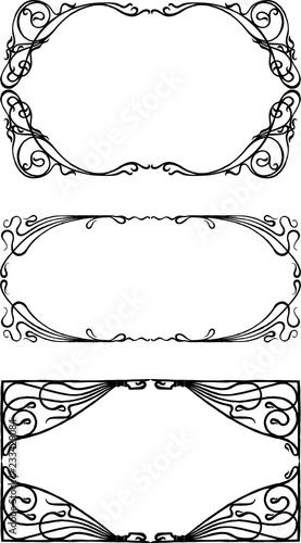 Fotomural  A set of decorative frames in art nouveau style