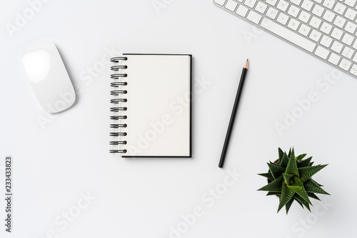 21984d93a36 Elegant office desktop. Top view - Buy this stock photo and explore ...