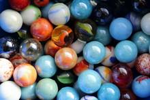 Marble Taw Children Enjoy Playing