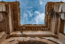 Part Of Library Of Celsus In E...