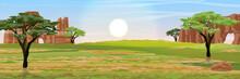 Australia. Dry Grass, Rocks An...