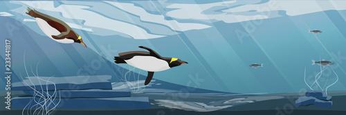 Photo Realistic Antarctic underwater landscape