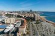 Barcelona Ansichten der Stadt mit Strand und Meer