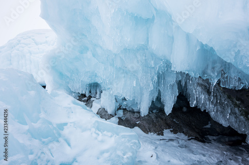 Poster Glaciers Lake Baikal in winter