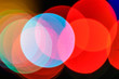 Background bokeh of bright colorful lights; abstract background