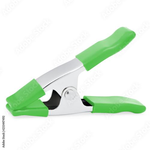 Fotografie, Obraz  Green Utility Clip